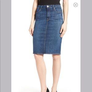 Good American High Rise Denim Pencil Skirt Blue046